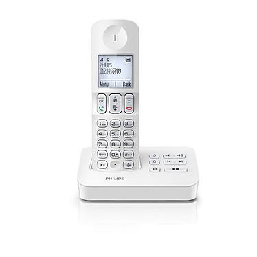 Philips D4051 Blanc Téléphone DECT sans fil avec répondeur (version française)