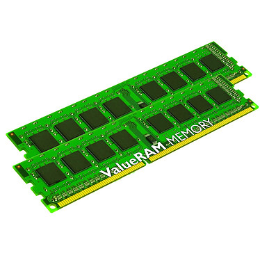 Kingston ValueRAM 8 Go (2 x 4 Go) DDR3 1333 MHz CL9 SR X8 Kit Dual Channel RAM DDR3 PC3-10600 - KVR13N9S8K2/8