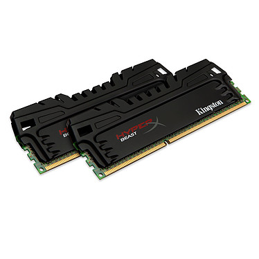 Kingston HyperX Beast 8 Go (2 x 4 Go) DDR3 1866 MHz CL9 Kit Dual Channel DDR3 PC3-14900 - KHX18C9T3K2/8X (garantie à vie par Kingston)