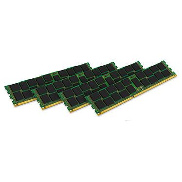 Kingston ValueRAM 32 Go (4 x 8 Go) DDR3 1600 MHz ECC Registered CL11 SR X4 (Intel) Kit Quad Channel RAM DDR3 PC3-12800 ECC Registered - KVR16R11S4K4/32I (garantie à vie par Kingston)