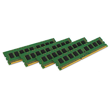 Kingston ValueRAM 32 Go (4 x 8 Go) DDR3 1600 MHz ECC CL11 Kit Quad Channel RAM DDR3 PC3-12800 ECC - KVR16E11K4/32 (garantie à vie par Kingston)