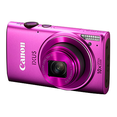 Canon IXUS 255 HS Rose Appareil photo 12.1 MP - Zoom grand angle 10x - Vidéo Full HD - Wi-Fi