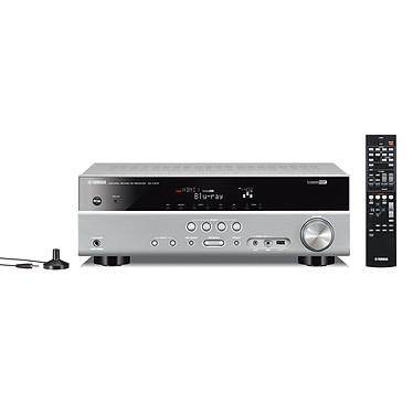 Yamaha RX-V375 Titane Ampli-tuner Home Cinéma 5.1 DLNA 3D-Ready avec HDMI 1.4 et Décodeurs HD Airplay