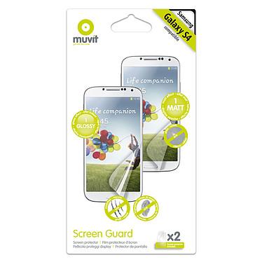 Muvit Screen Protector pour Galaxy S4 Lot de 2 films de protection écran pour Samsung Galaxy S4