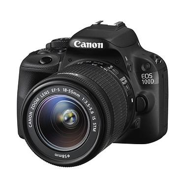 """Canon EOS 100D + EF-S 18-55mm f/3,5-5,6 IS STM Reflex Numérique 18 MP - Ecran tactile 3"""" - Vidéo Full HD + Objectif EF-S 18-55mm f/3,5-5,6 IS STM"""