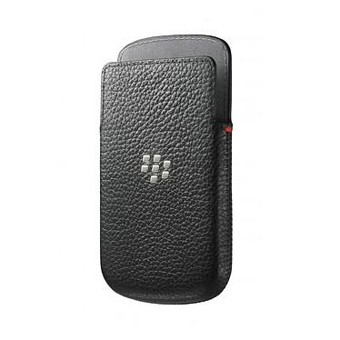 BlackBerry Leather Pocket Noir pour BlackBerry Q10