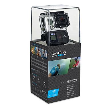 GoPro HERO 3 : Black Edition - Surf Caméscope HD pour sportif à mémoire flash avec Wi-Fi intégré et kit d'accessoires pour sport aquatique