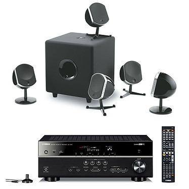 Yamaha RX-V475 Noir + Focal Little Bird Pack 5.1 Noir