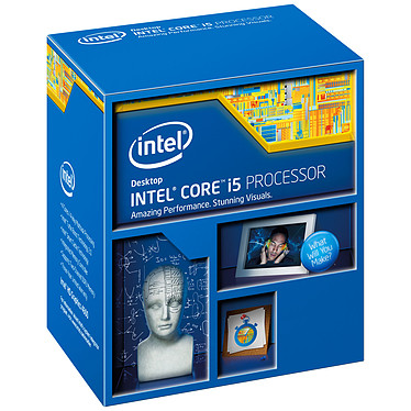 Intel Core i5-4460 (3.2 GHz) Processeur Quad Core Socket 1150 Cache L3 6 Mo Intel HD Graphics 4600 0.022 micron (version boîte - garantie Intel 3 ans)
