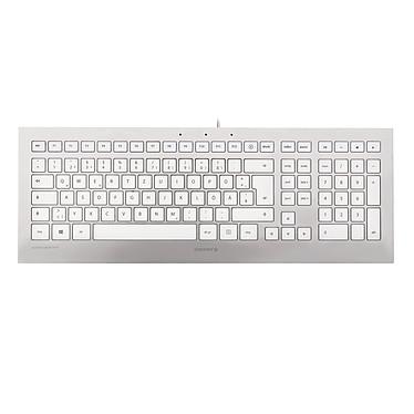 Cherry Strait Corded Keyboard - Belge (argent/blanc)