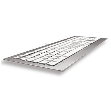 Acheter Cherry Strait Corded Keyboard - Belge (argent/blanc)