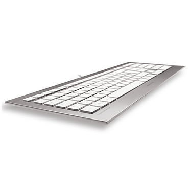 Acheter Cherry Strait Corded Keyboard - Suisse (argent/blanc)