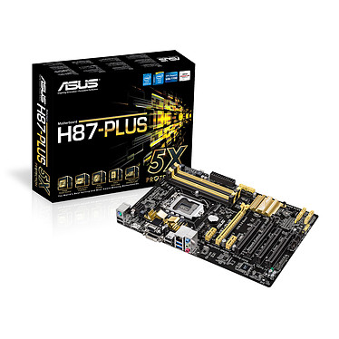 ASUS H87-PLUS C2 Carte mère ATX Socket 1150 Intel H87 Express - SATA 6Gb/s - USB 3.0 - 1x PCI-Express 3.0 16x + 1x PCI-Express 2.0 16x