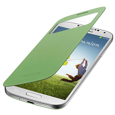 Samsung S-View Vert Samsung Galaxy S4 Etui folio pour Samsung Galaxy S4 GT-i9500/9505