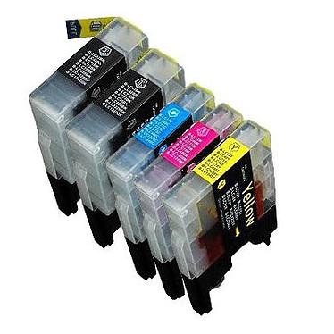 LDLC pack économique compatible Brother LC-1280XL / 1240 / 1220 (2x BK + C + M + Y)