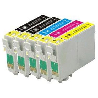 LDLC pack économique compatible Epson T181 (2x BK + C + M + Y) Lot de 5 cartouches (2 noires + 1 cyan + 1 magenta + 1 jaune)