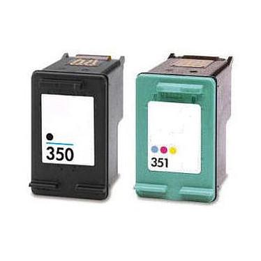 LDLC pack économique compatible HP 350 XL / 351 XL (BK + C) Lot de 2 cartouches (noire + couleur)