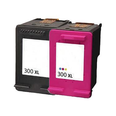 LDLC pack économique compatible HP 300 XL (BK + C) Lot de 2 cartouches haute capacité (noire + couleur)