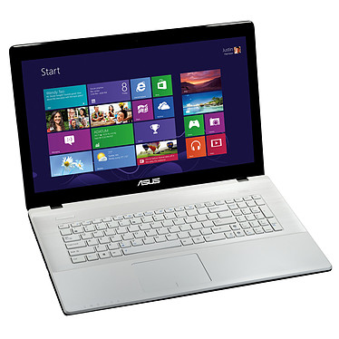 """ASUS X75VC-TY051H Blanc Intel Pentium 2020M 4 Go 750 Go 17.3"""" LED NVIDIA GeForce GT 720M Graveur DVD Wi-Fi N/Bluetooth Webcam Windows 8 64 bits (garantie constructeur 1 an)"""