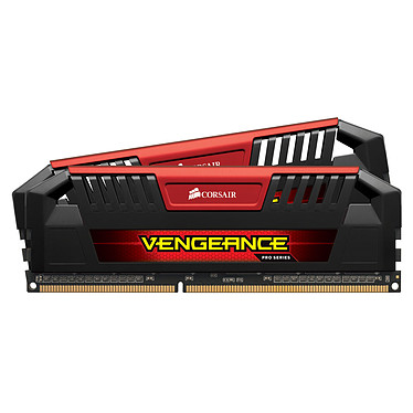 Corsair Vengeance Pro Series 16 Go (2 x 8 Go) DDR3L 1866 MHz CL10 Red Kit Dual Channel RAM DDR3 PC3-14900 - CMY16GX3M2C1866C10R (garantie à vie par Corsair)