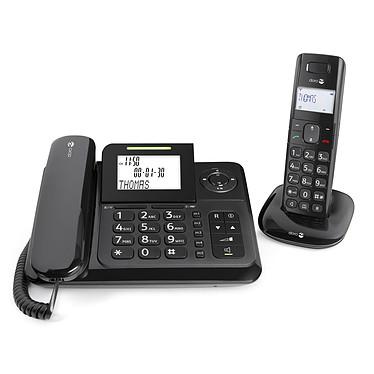 Doro Comfort 4005 Téléphone filaire + téléphone sans fil DECT avec répondeur intégré