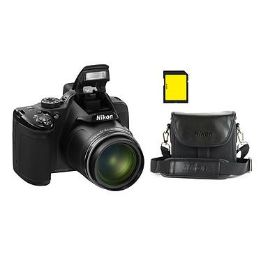 Nikon Coolpix P520 Noir + CS-P08 Noir + Carte SDHC 4 Go Appareil photo 18.1 MP - Zoom grand-angle 42x - Vidéo Full HD - GPS