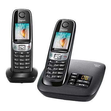 Gigaset C620A Duo Noir Téléphone DECT sans fil avec répondeur et combiné supplémentaire (version française)