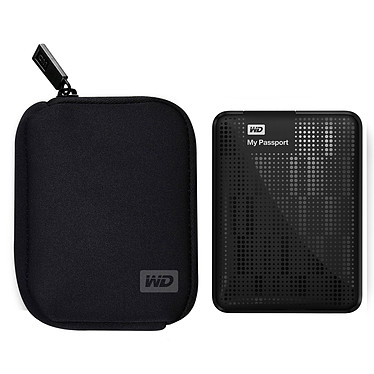 Western Digital My Passport 500 Go Noir + My Passport Carrying Case (USB 3.0)