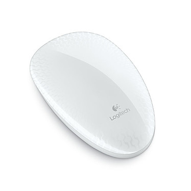 Logitech Touch Mouse T620 (Blanc) Souris optique sans fil à surface tactile pour Windows 7 et Windows 8