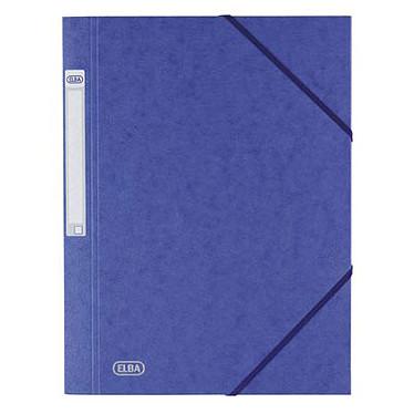 Elba Chemise à élastiques 24 x 32 cm  3 rabats 600 g Bleu