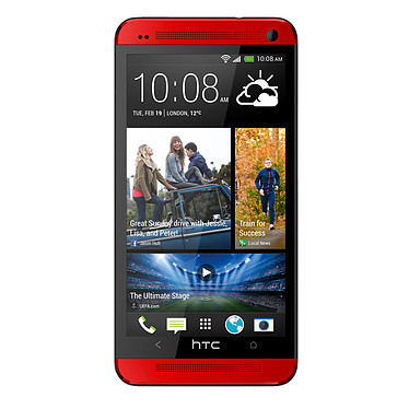 """HTC One Glamour Red 32 Go Smartphone 4G-LTE avec écran tactile Full HD 4.7"""" sous Android 4.1"""
