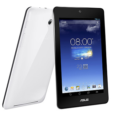 "ASUS MeMo Pad HD 7"" Blanc ME173X-1A003A Tablette Internet - ARM Cortex A7 Quad-Core 1 Go SSD 16 Go 7"" LED Tactile IPS Wi-Fi N/Bluetooth Webcam Android 4.2"