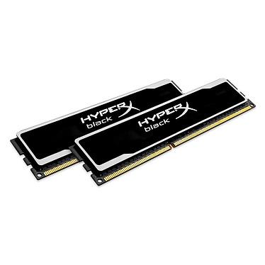 Kingston HyperX black 8 Go (2x 4Go) DDR3 1600 MHz CL9 Kit Dual Channel RAM DDR3 PC12800 CL9 - KHX16C9B1BK2/8 (garantie à vie par Kingston)