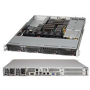 SuperMicro 6017R-WRF Serveur Barebone 1U - Intel C602 - 2x Socket 2011 - 16x DIMM DDR3 - 2x SATA 6Gb/s - 2x PCI Express 3.0 16x - 2 x Gigabit LAN