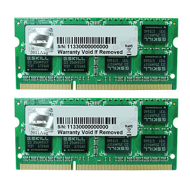 G.Skill SO-DIMM 16 Go (2 x 8 Go) DDR3 1333 MHz CL9 Kit Dual Channel RAM SO-DIMM DDR3 PC3-10600 - F3-1333C9D-16GSL