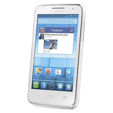 """Alcatel 5020D One Touch M'Pop Blanc Smartphone 3G+ avec écran tactile 4.0"""" sous Android 4.1"""
