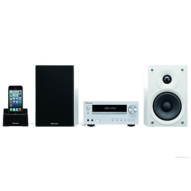 Pioneer X-HM51 Blanc Micro-chaîne CD/MP3 avec port USB compatible iPod/iPhone/iPad et Bluetooth