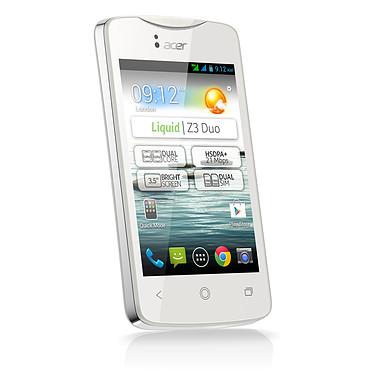 """Acer Liquid Z3 Duo Pearl White Smartphone 3G+ Dual SIM avec écran tactile 3.5"""" sous Android 4.2"""