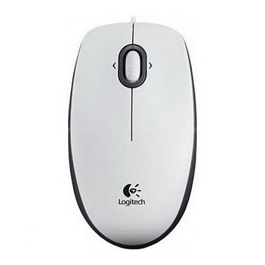 Logitech B100 Optical USB Mouse (Blanc)