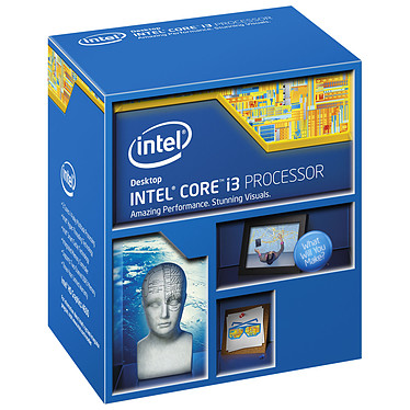 Intel Core i3-4170 (3.7 GHz) Processeur Dual Core Socket 1150 Cache L3 3 Mo Intel HD Graphics 4400 0.022 micron (version boîte - garantie Intel 3 ans)