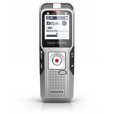 Philips DVT3400 Dictaphone numérique 4 Go avec enregistrement stéréo à 2 micros et slot MicroSD