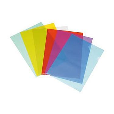 Esselte 100 carpetas de esquina estándar Rojo 100 bolsillos esquineros transparentes A4 12/100EM Rojo