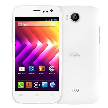 """Wiko Iggy Blanc Smartphone 3G+ Dual SIM avec écran tactile 4.5"""" sous Android 4.2"""