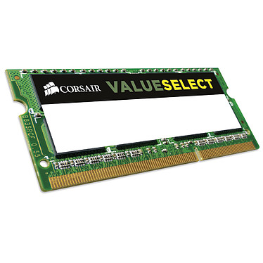 Corsair Value Select SO-DIMM 4 Go DDR3L 1333 MHz CL9 RAM SO-DIMM DDR3L PC10600 - CMSO4GX3M1C1333C9 (garantie à vie par Corsair)