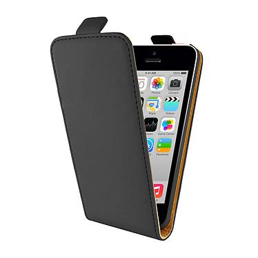 Swiss Charger Etui Flip Noir pour iPhone 5C