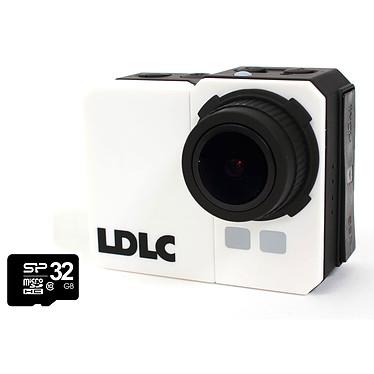LDLC Touch C1 + Carte mémoire microSDHC Class 10 32 Go Caméscope Full HD pour sportif à mémoire flash avec Wi-Fi intégré + boîtier étanche IP68 + Carte microSDHC 32 Go + kit d'accessoires