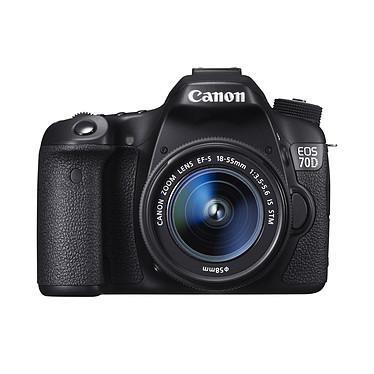 """Canon EOS 70D + Objectif 18-55mm IS STM Réflex Numérique 20.2 MP - Ecran 3"""" - Vidéo Full HD + Objectif 18-55mm IS STM"""
