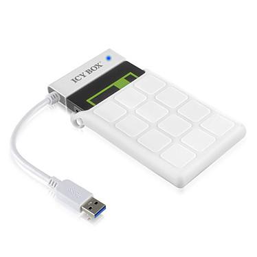 """ICY BOX IB-AC6032-U3 Câble adaptateur avec étui pour disque dur 2.5"""" sur port USB 3.0 (Blanc)"""