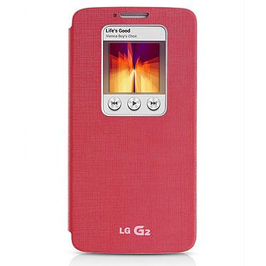 LG Etui Quick Window Case Rose pour LG G2 Etui de protection pour LG G2