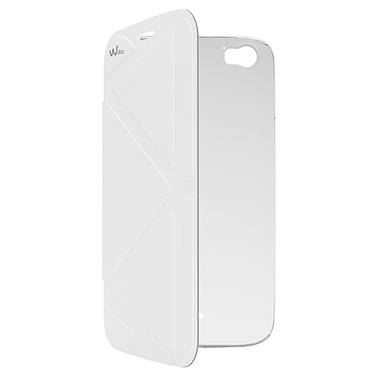 Wiko Folio Coque Support Blanc Darkside Coque pour Wiko Darkside